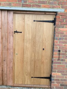 Bespoke Oak Plank door, made by others, fitted to Customers Design.